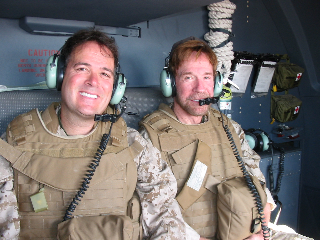 Chaplain Todd & Chuck in Iraq